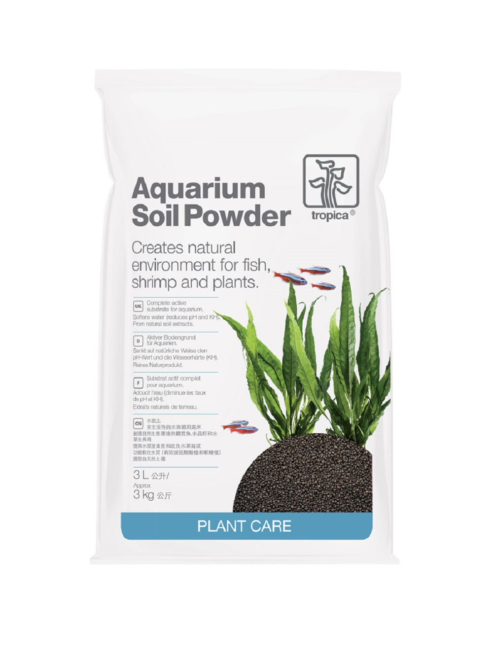 Tropica Aquarium Soil Powder 3 Litre